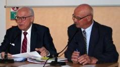 M. Alain LAMBERT Président du SDE et M. Jackie LEGAULT 1er Vice Président du SDE